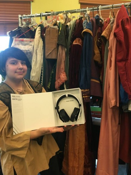 Like these really cool headphones donated by local business Good Vibrations.