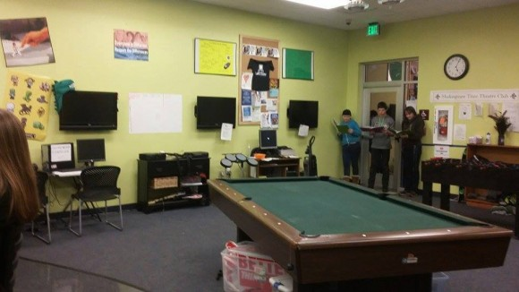 Though rehearsals were sometimes confusing to the members of the Teen Center who were not involved!